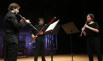 Yolanda Fernández, Juan Carlos Rivas y Carlos Tarancón. Recital de música de cámara