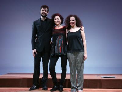 Marina Bollaín, Álvaro Corral Matute y Armelle Morvan. La voix humaine