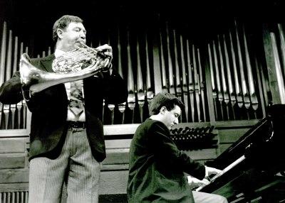 Miguel Ángel Colmenero y Gerardo López Laguna. Concierto Música para metales