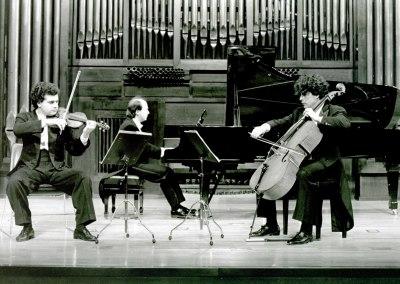 Trío Bretón, Santiago de la Riva, Miguel Jiménez y Alfonso Peciña. Concierto Tríos con piano