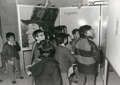 Vista parcial de la exposición Grabados de Goya