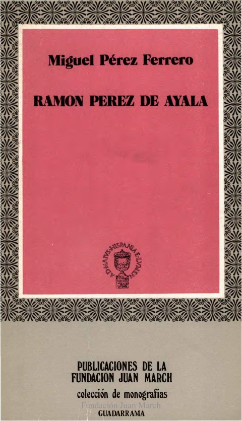 "Portada de ""Ramón Pérez de Ayala"""