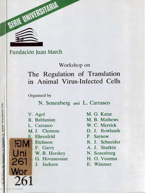 "Portada de ""The Regulation of Translation in Animal Virus-Infected Cells"""