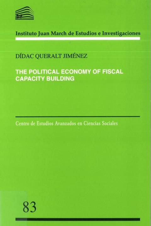 "Portada de ""The Political Economy of Fiscal Capacity Building"""