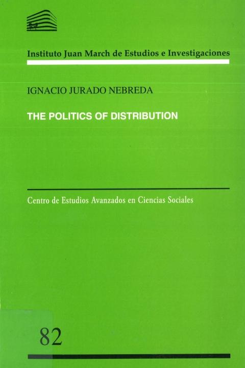 """Portada de """"The Politics of Distribution"""""""