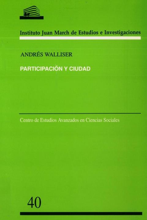 """Portada de """"Participación y ciudad"""""""