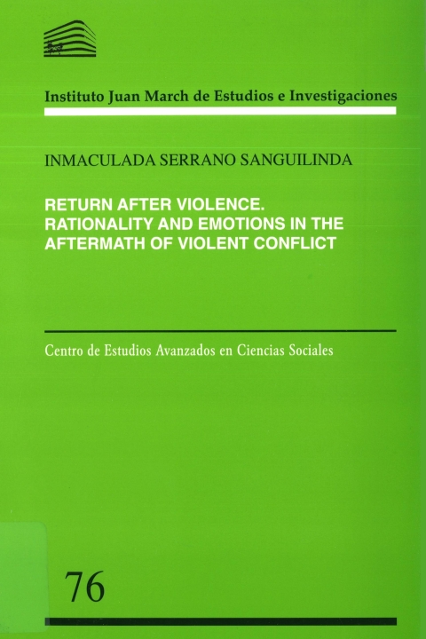 "Portada de ""Return after violence: rationality and emotions in the aftermath of violent conflict"""