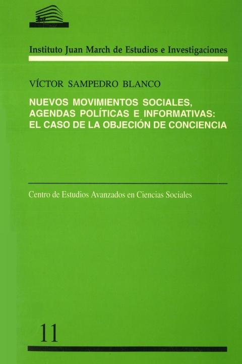 """Portada de """"Nuevos movimientos sociales: agendas políticas e informativas : el caso de la objeción de conciencia"""""""