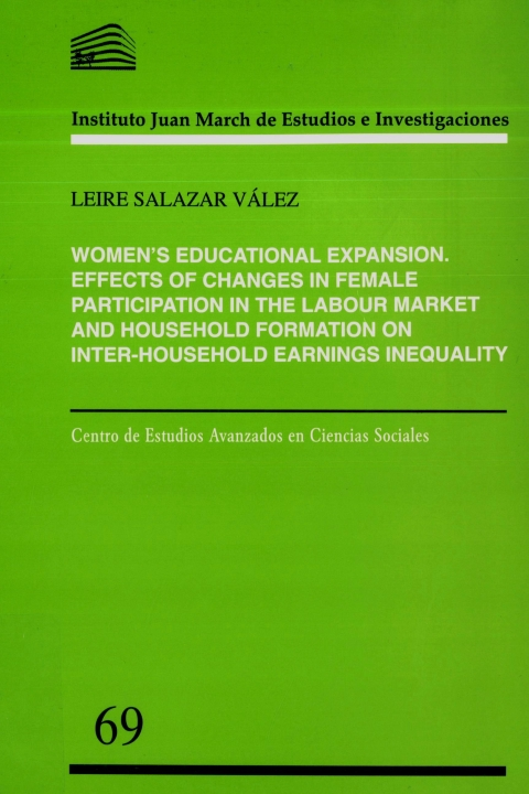 "Portada de ""Women's educational expansion: effects of changes in female participation in the labour market and household formation on inter-household earnings inequality"""