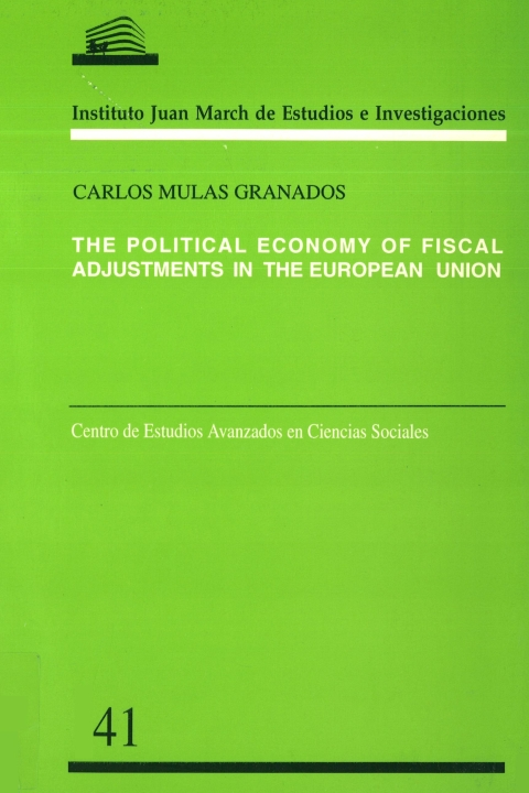 "Portada de ""The Political economy of fiscal adjustments in the European Union"""
