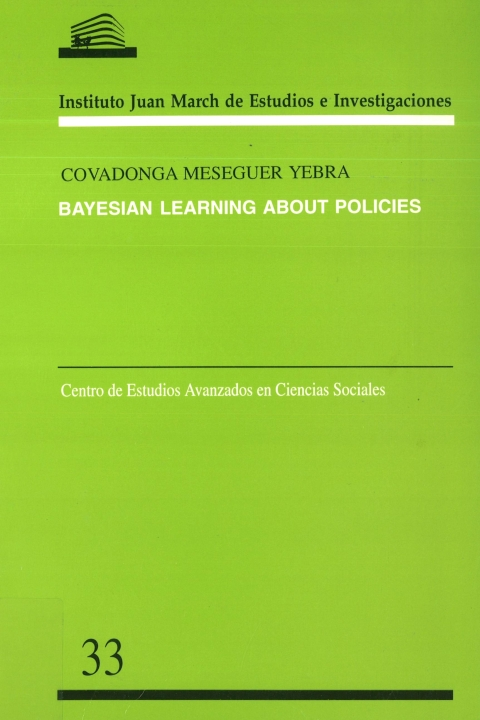 """Portada de """"Bayesian learning about policies"""""""