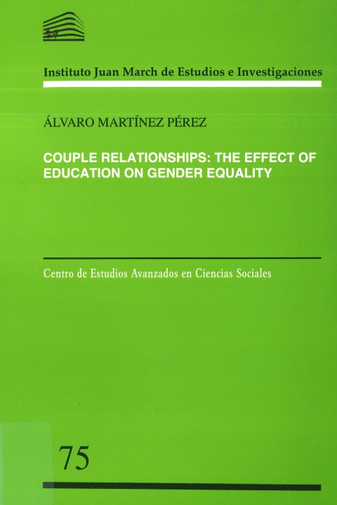 "Portada de ""Couple relationships: the effect of education on gender equality"""