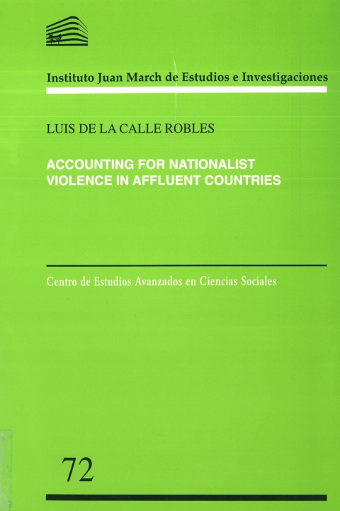 """Portada de """"Accounting for nationalist violence in affluent countries"""""""
