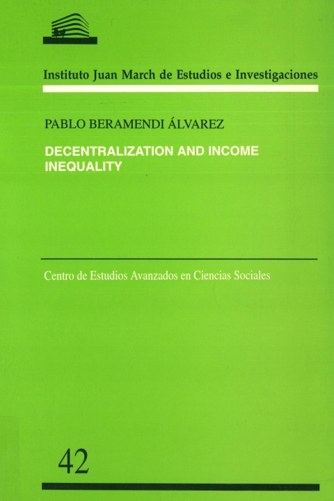 "Portada de ""Decentralization and income inequality"""