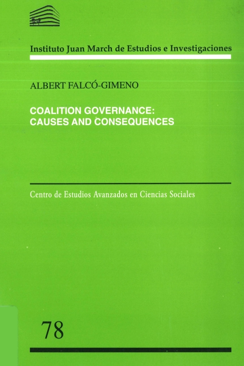 "Portada de ""Coalition Governance: Causes and Consequences"""