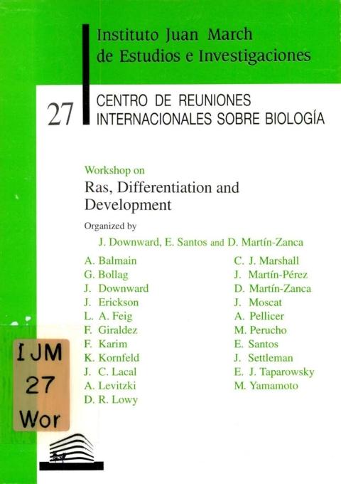 "Portada de ""Workshop on Ras, Differentiation and Development"""