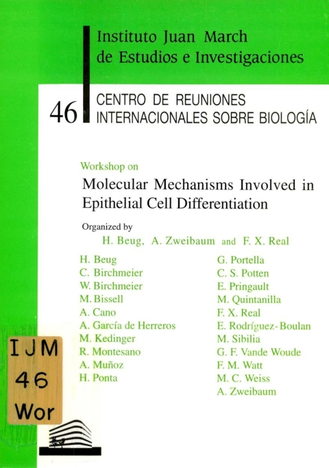 """Portada de """"Workshop on Molecular Mechanisms Involved inEpithetial Cell Differentiation :"""""""