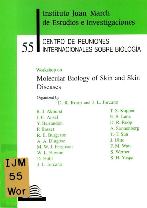 "Portada de ""Workshop on Molecular Biology of Skin and Skin Diseases"""