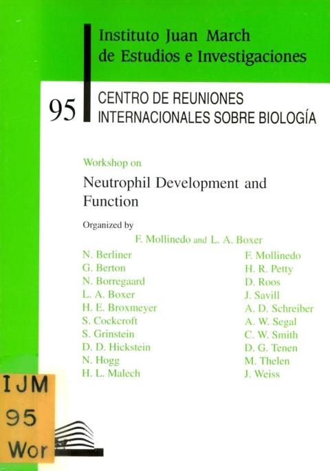 "Portada de ""Workshop on Neutrophil Development and Function"""