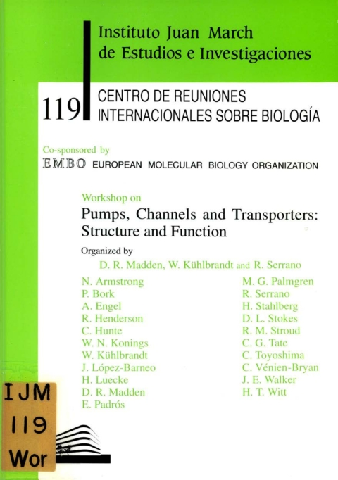 """Portada de """"Workshop on Pums, Channels and Transporters : Structure and Function"""""""