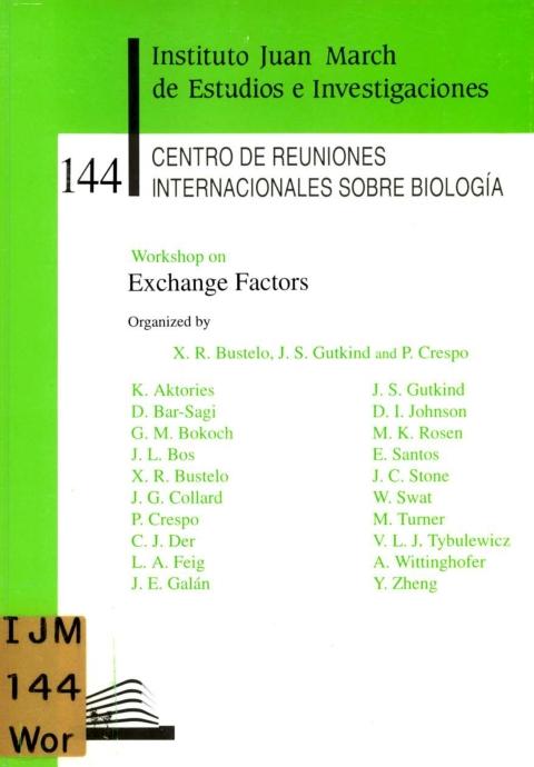 """Portada de """"Workshop on Exchange Factors"""""""