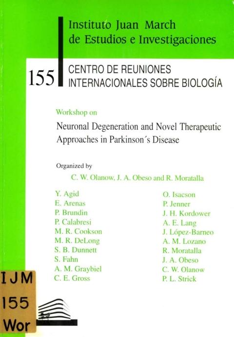"Portada de ""Workshop on Neuronal Degeneration and Novel Therapeutic Approaches in Parkinson's Disease"""