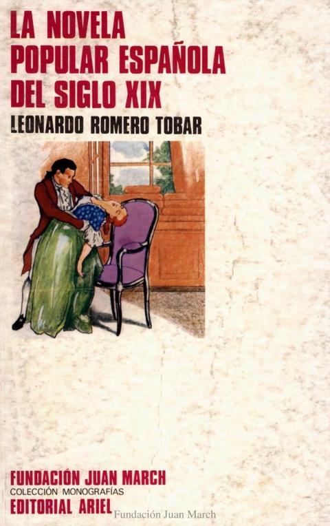 """Portada de """"La novela popular española del siglo XIX"""""""