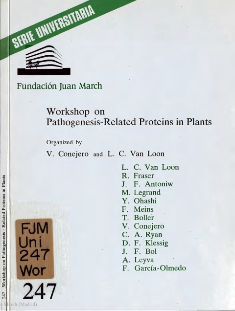 "Portada de ""Workshop on Pathogenesis-Related Proteins in Plants"""