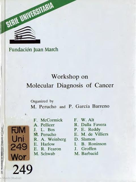 "Portada de ""Workshop on Molecular Diagnosis of Cancer"""