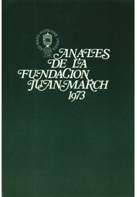 """Portada de """"Anales 1973"""""""
