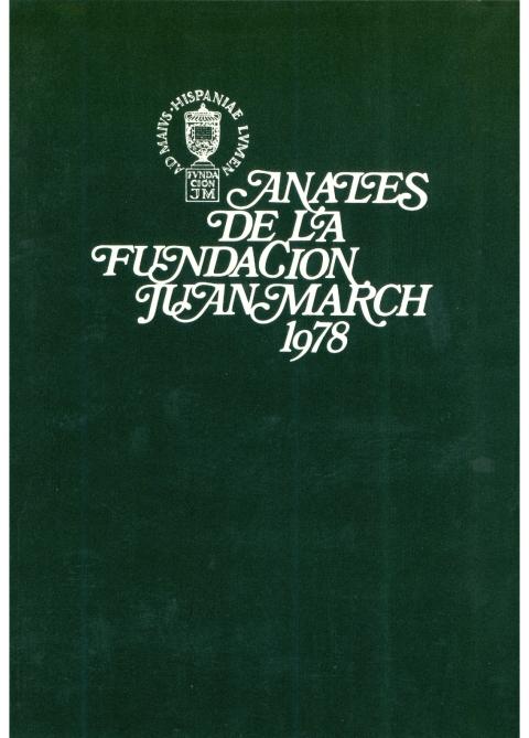 """Portada de """"Anales 1978"""""""