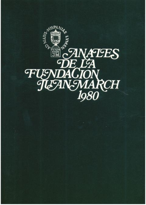 """Portada de """"Anales 1980"""""""