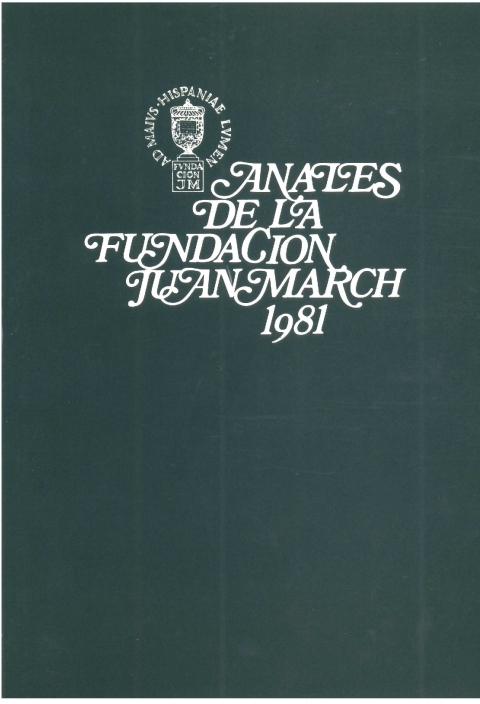 """Portada de """"Anales 1981"""""""