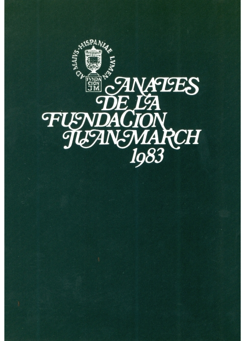 """Portada de """"Anales 1983"""""""