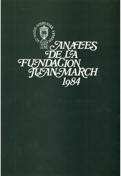 """Portada de """"Anales 1984"""""""