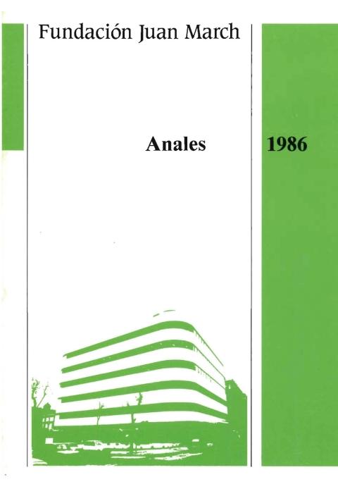 """Portada de """"Anales 1986"""""""