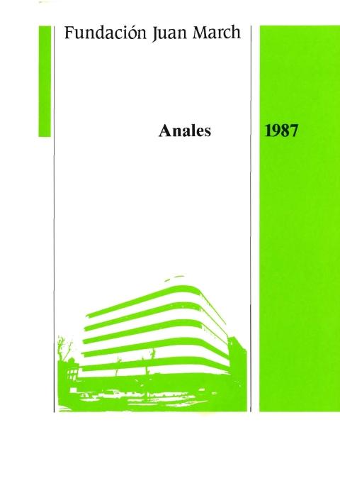 """Portada de """"Anales 1987"""""""