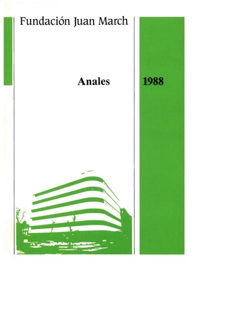 """Portada de """"Anales 1988"""""""