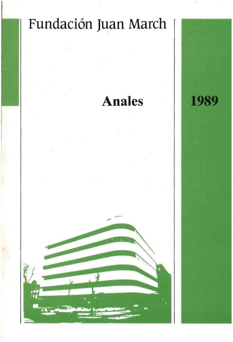 """Portada de """"Anales 1989"""""""