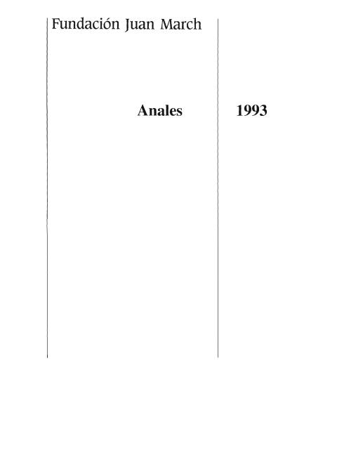 """Portada de """"Anales 1993"""""""
