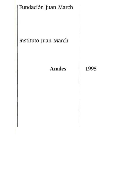 """Portada de """"Anales 1995"""""""