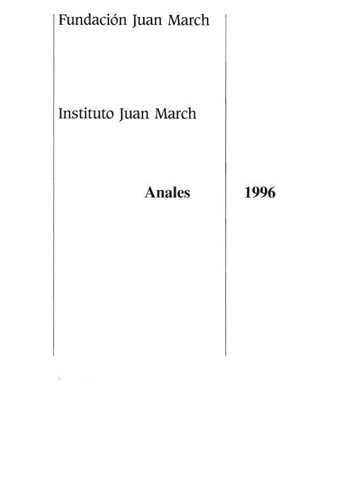 """Portada de """"Anales 1996"""""""