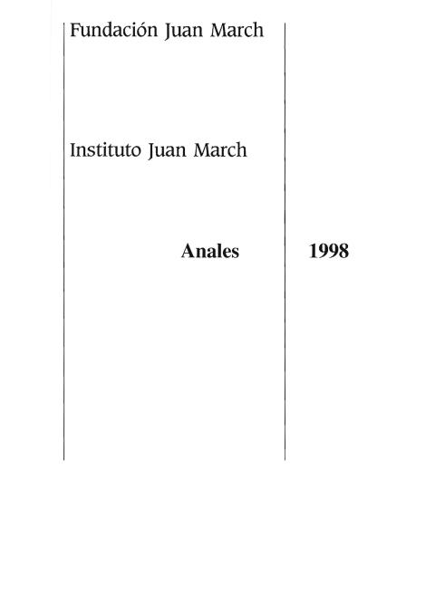 """Portada de """"Anales 1998"""""""