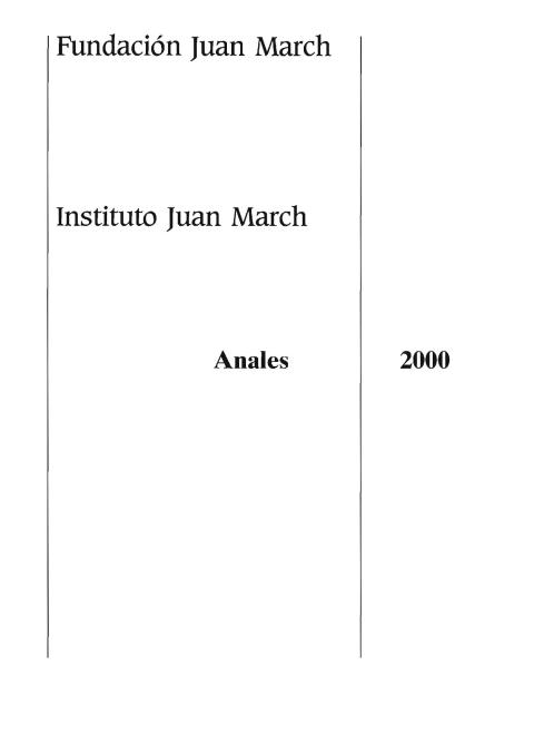 """Portada de """"Anales 2000"""""""