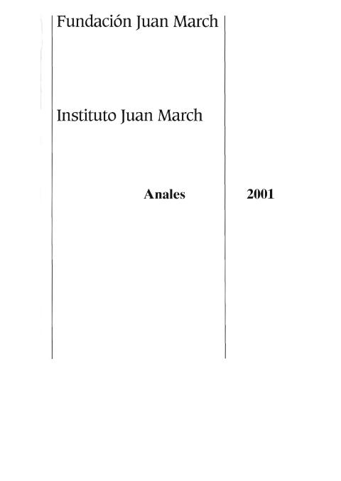 """Portada de """"Anales 2001"""""""