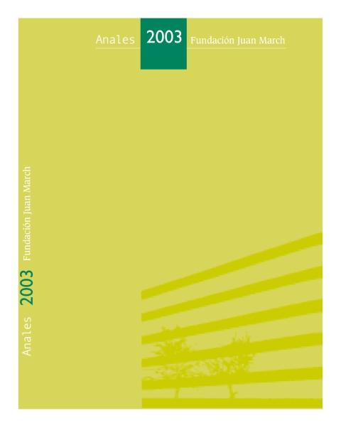 """Portada de """"Anales 2003"""""""