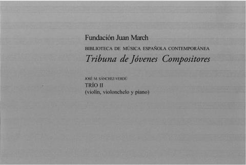 """Portada de """"Trío II: violín, violonchelo y piano"""""""