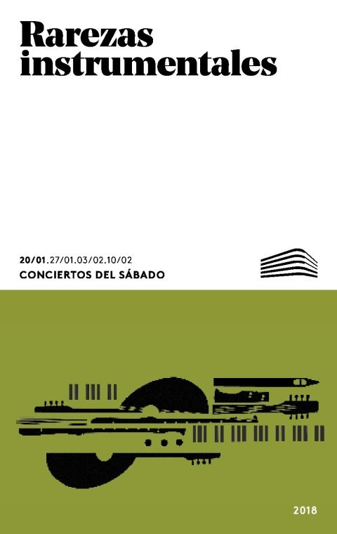 """Portada de """"Rarezas instrumentales. Piano de mesa. Conciertos del Sábado. 20 de enero de 2018"""""""