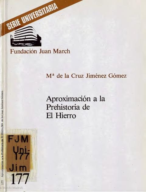Aproximación a la Prehistoria de El Hierro [1982]. Biblioteca