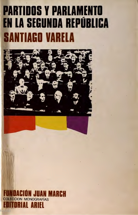 """Portada de """"Partidos y Parlamento en la II República española"""""""